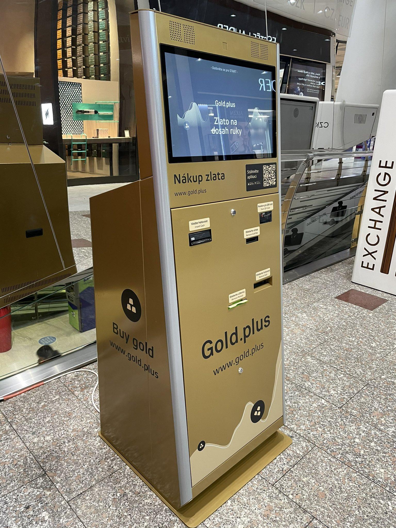 Der erste physische Geldautomat für Goldbarren steht jetzt in der Tschechischen Republik
